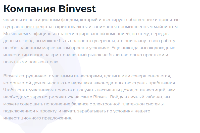 Криптовалютные обманщики Binvest, Фото № 2 - 1-consult.net