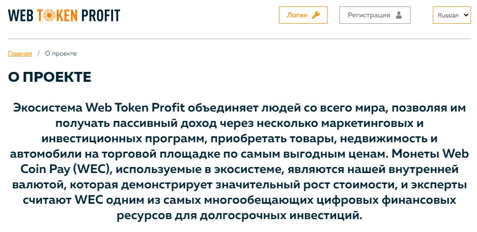 Вся информация о Web Token Profit, Фото № 1 - 1-consult.net