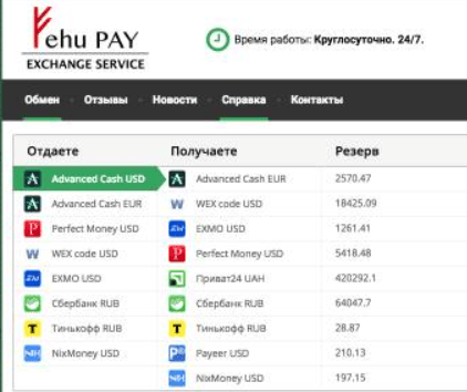 Подробная информация об обменнике FehuPay  , Фото № 1 - 1-consult.net