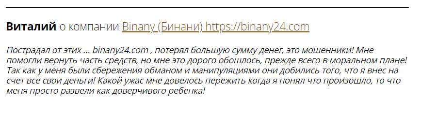 Вся информация о компании Binany, Фото № 4 - 1-consult.net