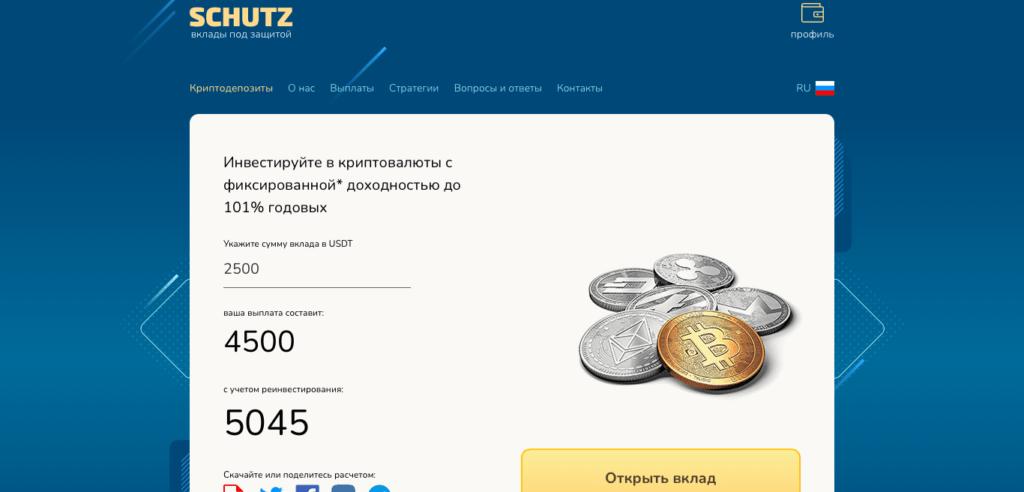 Подробно об инвестиционной компании SCHUTZ, Фото № 1 - 1-consult.net