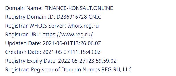 Вся информация о проекте finance-konsalt.online, Фото № 1 - 1-consult.net