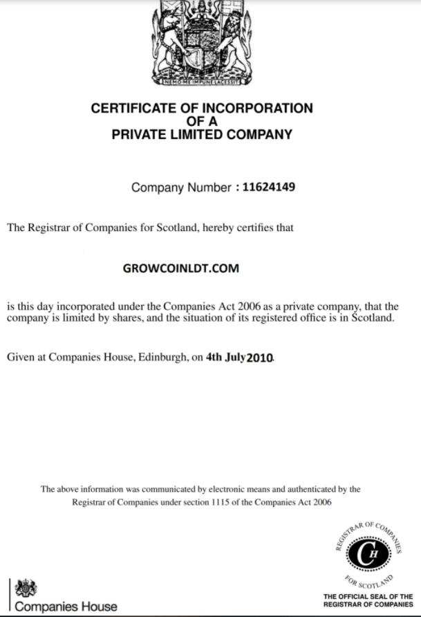Вся информация об инвестиционной площадке GROWCOIN LTD, Фото № 3 - 1-consult.net