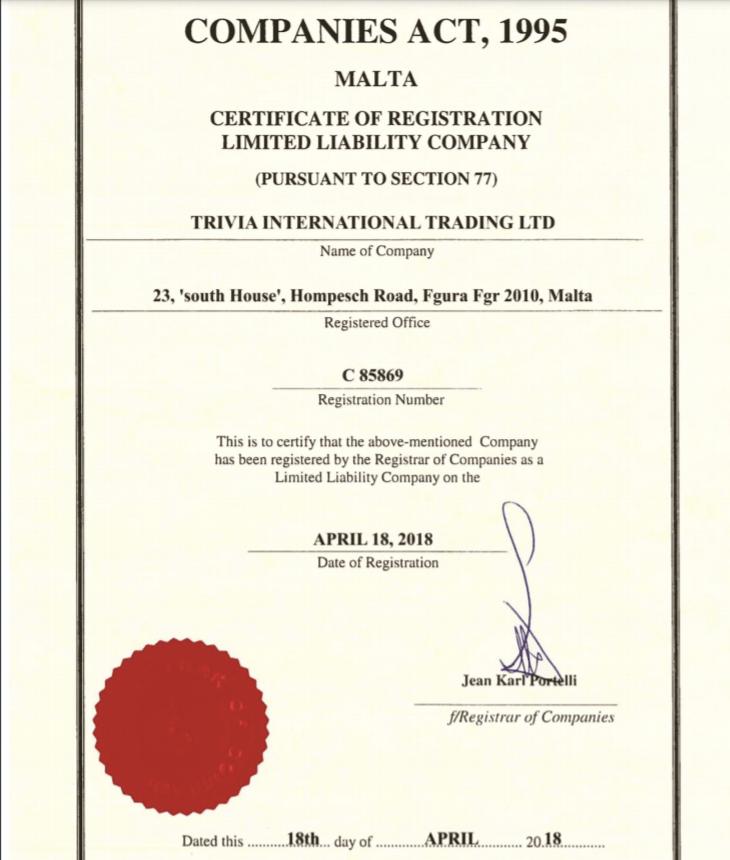 Подробная информация о брокерской компании Triviatrade, Фото № 4 - 1-consult.net