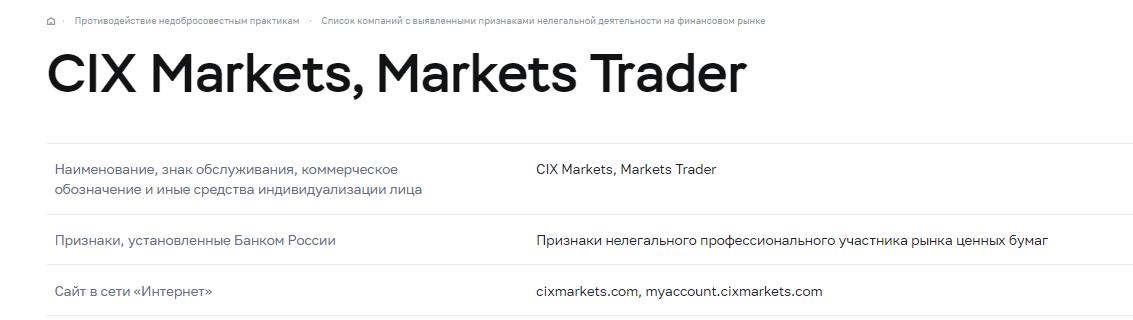 CIX Markets - можно ли им доверять?, Фото № 5 - 1-consult.net
