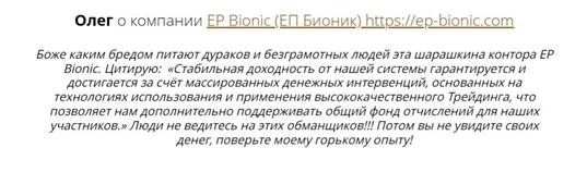 Детальный обзор проекта Ep-Bionic, Фото № 6 - 1-consult.net