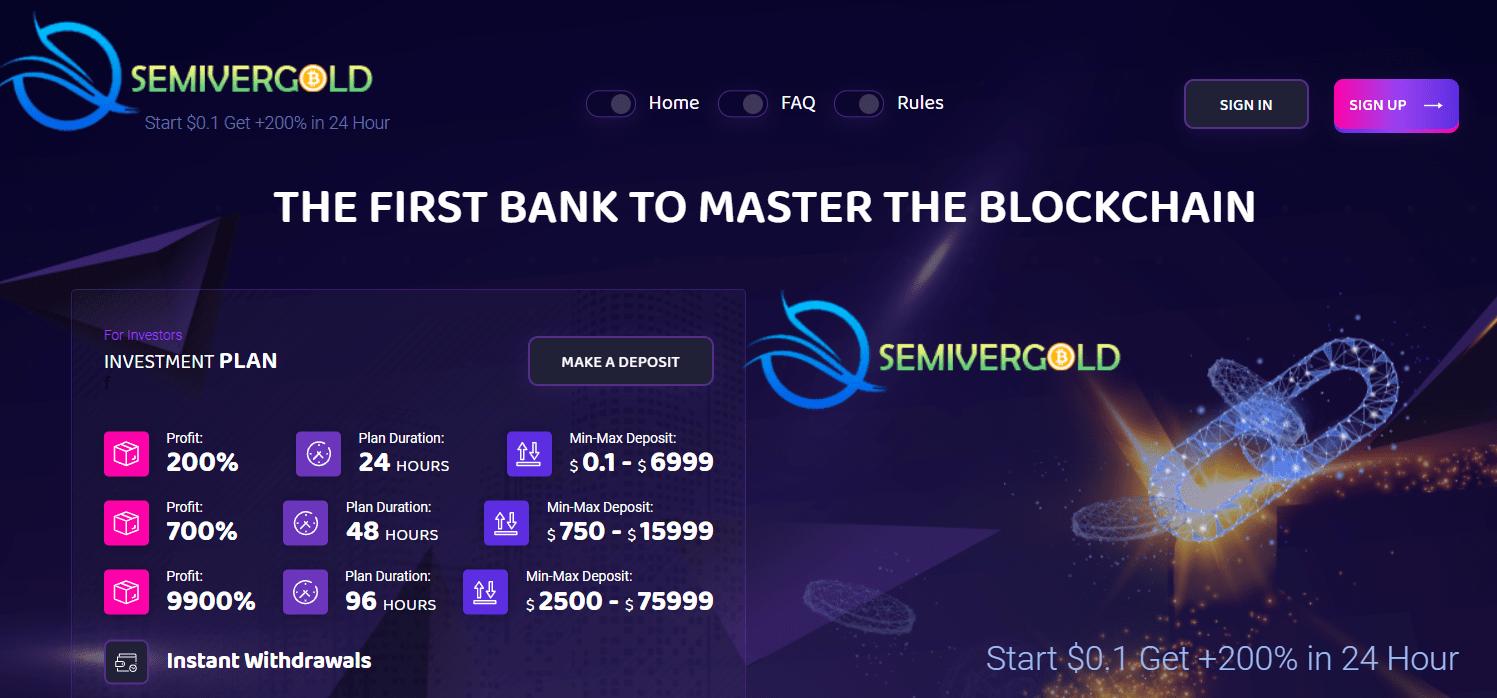 Вся информация об инвестиционной платформе Semivergold, Фото № 1 - 1-consult.net