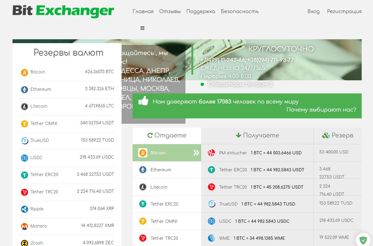 Вся информация об обменнике Bit-Exchanger, Фото № 1 - 1-consult.net
