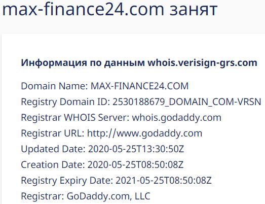 Вся информация о компании MAX-FINANCE24, Фото № 1 - 1-consult.net