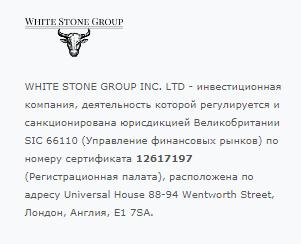 Подробности деятельности White Stone Group, Фото № 3 - 1-consult.net