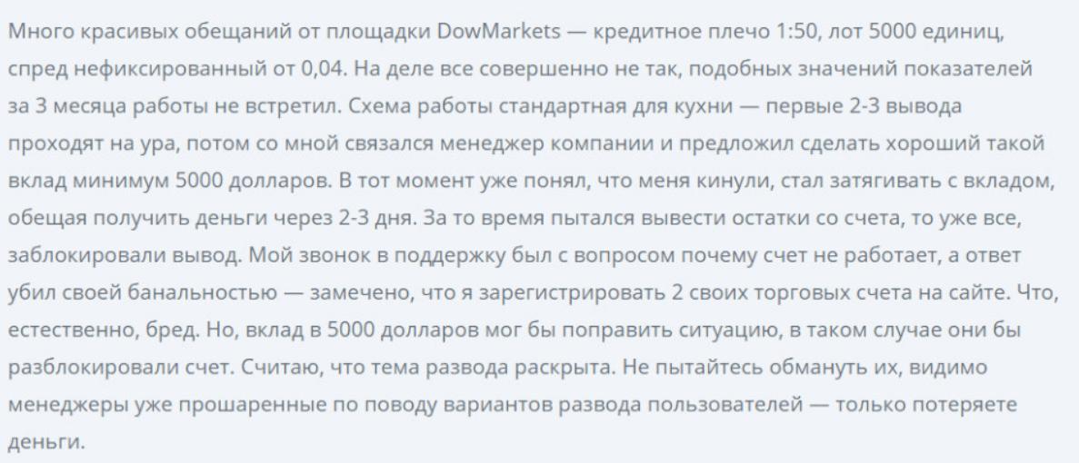 Вся информация о компании Dowmarkets, Фото № 5 - 1-consult.net